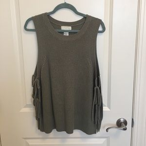 Forever21 side tie sweater